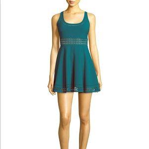 Elizabeth & James Teal Kenton Cutout Dress
